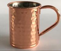 500 ml Moscou Mule Beer Cup Moscou Mule Caneca De Cobre Caneca De Ouro Rosa Hammered Cobre Banhado Drinkware