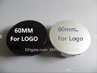 Nuovo 20pcs * 60mm per Peugeot Argento / Black Badge Ley Wheel Center Caps Hubs Logo 106 107 206 207 307 308 406 407 Auto Styling