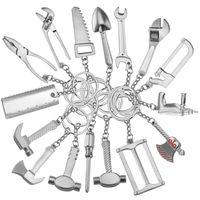 Творческий Металлические Инструменты Брелок Мода Регулируемый Ключ Металлический Брелок Партии Пользу Кулон Праздничный Подарок Home Decor TTA777