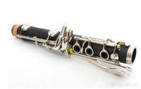Yeni Profesyonel Klarnet bakalit Vücut Nikel Kaplama Bb Anahtar 17 anahtar İki varil yok markası