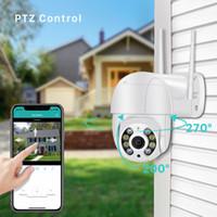 WiFi 1080P Sicurezza domestica Telecamera HD Outdoor Impermeabile PTZ Camera Telecamera Umana Detect Colore Night Vision Audio Talk CCTV Survellanza P2P Telecamera IP