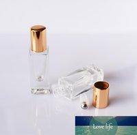 Vidro Praça rolo Garrafa Fragrance rolo Container DIY Perfume Bottles Beauty Lip Gloss Cuidados de Embalagens Vazias Roll-on Garrafas