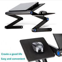 Ergonomischer Laptop Schreibtisch Belüftete Runde-Computer-Bett-Tisch tragbarer E-Tisch mit Mauspad Allo'y Notebook-Support-Stand-Studie-Sofa