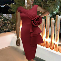 Wine Red Bodycon Dress Sleeveless Tight Event Celebrate Sexy...