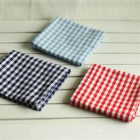 5pcs rétro petit tapis de table d'art de tissu à carreaux, tapis de coupe en coton, coussin d'isolation thermique, serviette de table western, torchon