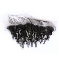 Девственница бразильский серебристо-серый ломбер человеческих волос уха до уха 13x4 кружева фронтальная тетя Фунми #1B / серый ломбер полный кружева фронтальная закрытие