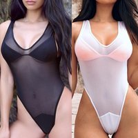 2018 New Sexy One Piece Swimsuit Women Swimwear See Through ...