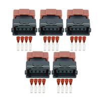 5 Sets 4 Pin Feminino DJ7045Y-3-21 Mass Air Flow Car Sensor Conector elétrico selado conectores automotivos