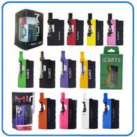 100% Original Imini V1 V2 icarts Kit com 0,5 1,0ml Cartuchos Pré-aqueça o Mod Bateria Fit Liberdade Battery Cartridge