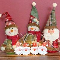 10LED Металл двухстороннего Санта-Клаус светодиодной Строки Garland батарея Box устройство Нового год рождественские украшения для дома Рождественских украшений