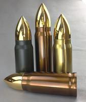 Neue Kugelform Thermos 350ml Isolationsbecher Edelstahl Vakuum Wasser Flasche Militärische Raketenschale Kaffeetasse Getränkewaren DC718