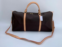 2019 새로운 패션 남성 여성 가방 더플 백 여행, 가죽 가방은 용량이 큰 스포츠 가방 54CM를 핸드백