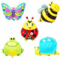 New vendendo festa de aniversário decoração de balões balão balão abelha borboleta alumínio infantil filme de alumínio f Insect rog