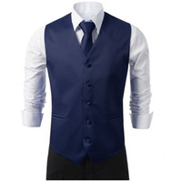 New Navy Red Formal Men' s Waistcoat New Arrival Fashion...