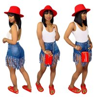 Yaz Kadın Şort Püskül Denim Şort Yüksek Bel Bayan Skinny Jeans Moda Tasarımcısı Fermuar Fly Cep Vintage Şort Artı Boyutu A52002