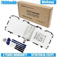 بطارية Weihang 7000mAh SP3676B1A (1S2P) لهاتف Samsung Galaxy Tab 2 Note 10.1 P5100 P5110 P7500 P7510 N8010