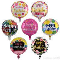 18 pollici bolla gonfiabile palloncini di carta stagnola di compleanno per il bambino felice bambini palloncino compleanno compleanno partito decorazioni ballon
