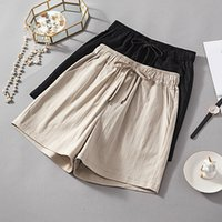 Plus Size Cotton Linen Shorts Women Summer fashion Loose Dra...