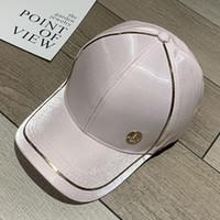 Version coréenne du nouveau designer Satiné Satin Shade Baseball Leisure M Logo Chapeau Femme Golf Hip HOP HOP chapeau de haute qualité Casquettes de mode mercerisée de haute qualité