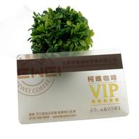 Transparent jet d'encre sur mesure Pvc carte d'identité d'impression blanc, jet d'encre noire imprimable Pvc Vip Menber Sinature Panneau Pour Pvc carte d'identité
