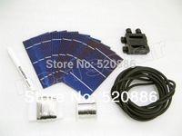 Freeshipping 40pcs 3x6 태양 전지 셀, 와이어, 접합 상자, 플럭스 펜, 전원 공급 장치에 대 한 DIY 80w 태양 전지 패널 절단 학년 셀