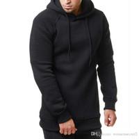 Erkek dökümlü Katı Kapşonlu Spor Hoodie Sonbahar İlkbahar Erkek Casual Gevşek Tişörtü Tasarımcı
