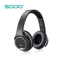 سماعة أذن SODO MH1 بلوتوث الأصلية 2 في 1 سماعة رأس لاسلكية ملتوية مع ميكروفون NFC للهواتف