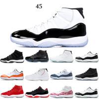11 11 초 새로운 신발 남성 농구 신발 Win Like 82 콩코드 낮은 전설 블루 플래티넘 색조 모자 및 가운 디자이너 운동화 신발 스포츠