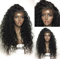 Glueless Full Lace Wigs For Black Women Black Brown Front La...