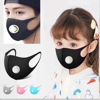 Ice Silk Valve Face Mask For Adult And Kids Solid Dustproof ...