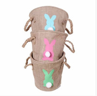 Personalized Easter Basket Monogrammable Rabbit Bucket Burla...
