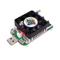 LD25 USB Carga Eletrônica Digital Display Tester Medidor de Corrente de Tensão Com Ventilador de Refrigeração 2018 novo item