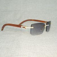 Rhinestone Doğal Ahşap Çerçevesiz Güneş Erkekler Ahşap Kare Güneş Gözlükleri Retro Taş Shades Arculos Gözlük Kulübü Yaz Için