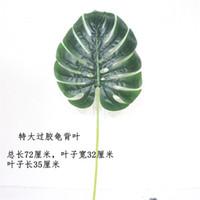 Hoja de sauce verde Simulación Celebración de bodas Artículos Follaje Botánica Decorar la pared Tortuga Dorsal Hojas Venta caliente 4 mm p1