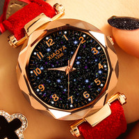Fashion Women Watches 2019 Star Sky Dial Clock Rose Gold Wom...