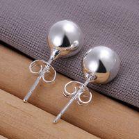 Nouvelle marque boucles perles 10M plaque en argent sterling DFMSE074, argent 925 femmes Dangle Chandelier boucles d'oreilles 10 paires de beaucoup