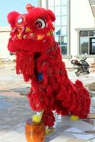 F / S NOUVEAU Red Lion Dance fait à la main masque adulte masque mascotte Costume fête de mariage pure laine Southern Lion effectuant le jeu stade chinois costume folklorique