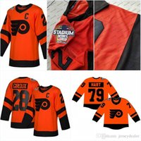 2019 Estádio Series Jersey Mens 79 Carter Hart Philadelphia Flyers Claude Giroux Simmonds Couturier Voracek Gostisbehere Hockey Jerseys