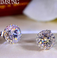 2 CT Solide 925 Sterling Silber Hochzeitstag SONA Moissanite Diamant Bolzenohrrings Engagement Modeschmuck Frauen Drop Shipping