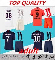 2019 2020 MBappe Futbol Forması Kitleri 19 20 Maillot De Ayak Cavani Icardi Survetement Paris Erkekler S Futbol Gömlek