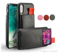 Per iPhone X XS 7 Coperchio 8 6 Plus Portafoglio in pelle di caso antiurto RFID Custodia Pull Up Holder credito ID Card Phone