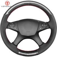탄소 섬유 스웨이드 DIY 자동차 스티어링 휠 커버를 들어 메르세데스 벤츠 W204 C 클래스 2007-2010 C280 C230 C180 C260 C200 C300