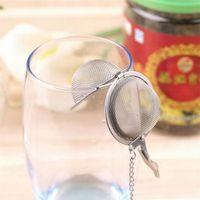 تصفية 100PCS Teaware الفولاذ المقاوم للصدأ شبكة الشاي المساعد على التحلل الكرة مصفاة المجال قفل التوابل الشاي الترشيح كأس العشبية الكرة أدوات الشراب