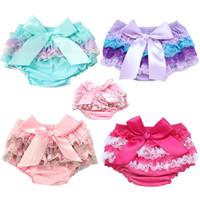 Yenidoğan Bebek Giyim Bebek Pamuk Dantel Bow Bloomers Sevimli Bebek Kız Erkek Alt Bezi Kapak Bebek Yaz Şort PP Pantolon