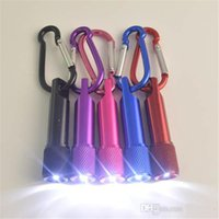 LED-Mini-Taschenlampen-Aluminiumlegierung Taschenlampe mit Karabiner Ring Schlüsselanhänger Schlüsselanhänger Mini-LED-Taschenlampe Mini-Licht LED-Taschenlampen ST607