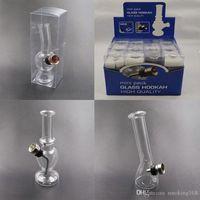 4.7 inch mini glazen beker water bong bubbler rook pijp draagbaar voor droge kruid dab rig bong hand tabak lepel pijp met onafhankelijke verpakking