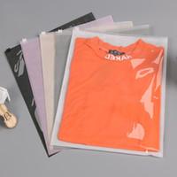 Bolsa de roupa plástica não-tecida Bolsa de t-shirt reclosable roupa plástica clara sacos de embalagem sacos de armazenamento de viagem