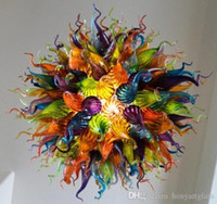 Multi Color Murano Glass Large Chandelier Modern Hand Blown ...