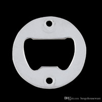 Acciaio inossidabile rotonda apribottiglie portatile compatto apribottiglie Parte Con fori svasati metallo Forte Bottle Opener lucido BH1963 CY
