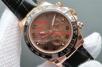 Fabrieksmaker Gratis verzending Sapphire 40mm roze goud 116515LN automatische herenhorloge horloges geen chronograaf zwarte wijzerplaat